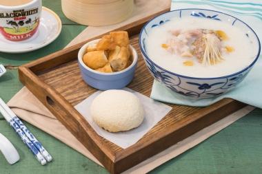 Congee - Snow Bun Set