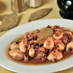 Adobong Baby Squid